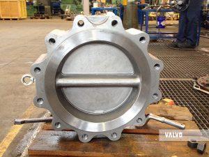 "dual plate check valve, 16"" 150#, WCB/CF8"
