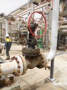 """VALVOMETAL reliability: gate valve, 8"""" #900, WCB, installed in ENI Gela refinery since 2003"""