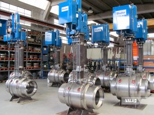 "fully welded ball valves – 24"" #600, LF2/A105, buried"